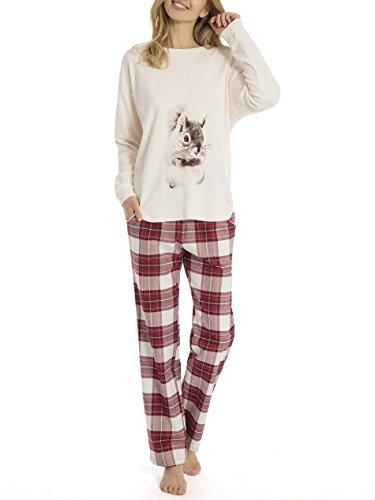 Triumph Sets Pyjama mit Flanell-Hose Damen (Hose Pyjama Flanell Set)