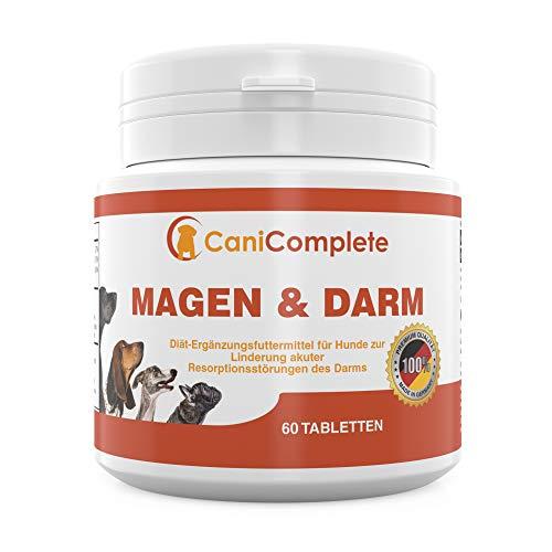 CaniComplete - Magen und Darm. Durchfall Tabletten. Verdauungshilfe für Hunde und Katzen. Bei Resporbtionsstörungen des Darms oder nach Wurmkuren - mit Bentonit -