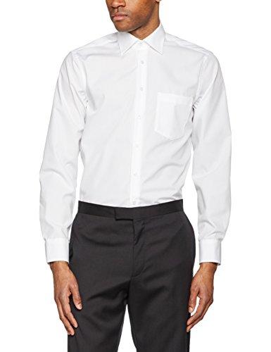 Seidensticker Herren Businesshemd Modern Langarm mit Kent-Kragen bügelfrei Weiß