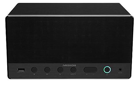 MEDION LIFE MD 43035 Lautsprecher Multiroom, Internetradio, WLAN/WiFi zur Einbindung ins Heimnetz, DLNA, USB, AUX-In, Steuerung über APP,