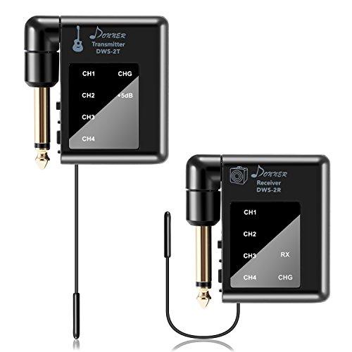 Donner DWS-2, trasmettitore e ricevitore Digital e Wireless per chitarra elettrica, basso e chitarra elettroacustica