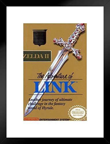 Pyramid America The Adventure Link Zelda II Super Nintendo NES Game Boy DS 3DS WII Vintage Box Art Passepartout gerahmt Poster 50,8x 66cm -