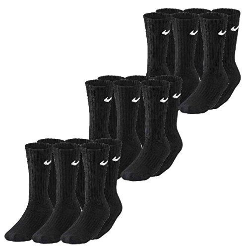 Nike Value Cotton Crew Socken, Farbe schwarz, Size 38-42/M