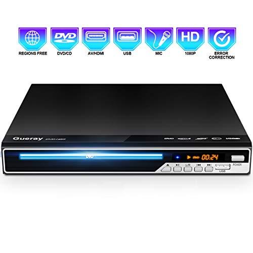 Gueray Reproductor DVD HDMI Televisión Portátil