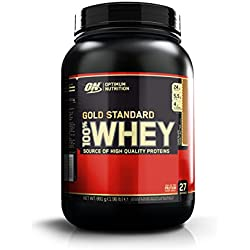 Optimum Nutrition Gold Standard Whey Eiweißpulver (mit Glutamin und Aminosäuren. Protein Shake von ON), Chocolate Peanut Butter, 27 Portionen, 0.9kg