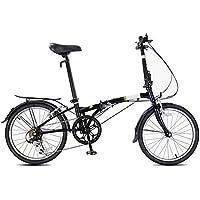 XMIMI Bicicleta Plegable Ultraligero conmutar Hombres y Mujeres Adultos Bicicleta Plegable Casual 20 Pulgadas 6 velocidades