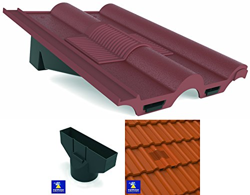 antique-red-marley-redland-sandtoft-double-roman-roof-in-line-tile-vent-ventilator-flexi-pipe-adapto