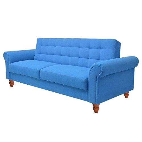 vidaXL Sofá Cama Elegante Tela Color Azul