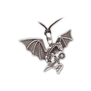 Zoelibat 97209141.112-Gothic Punk Colgante, dragón con Espada, 5.5x 4cm