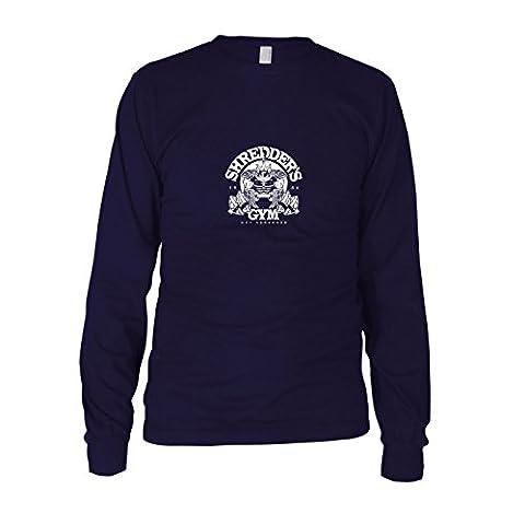 Shredder's Gym - Herren Langarm T-Shirt, Größe: L, dunkelblau (Shredder Schildkröten Kostüm)