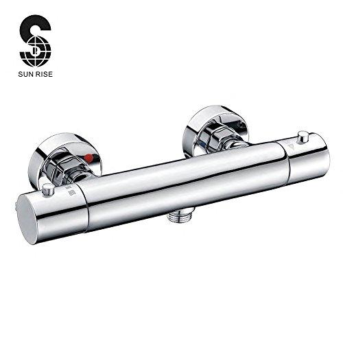 Preisvergleich Produktbild S R SUNRISE Morderne Duschthermostat Messing fur Badezimmer Brausethermostat mischbatterie dusche