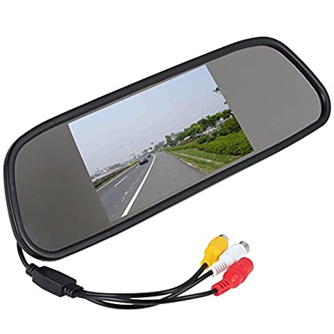5inch TFT color Mirror car rearview Monitor LCD display 2AV