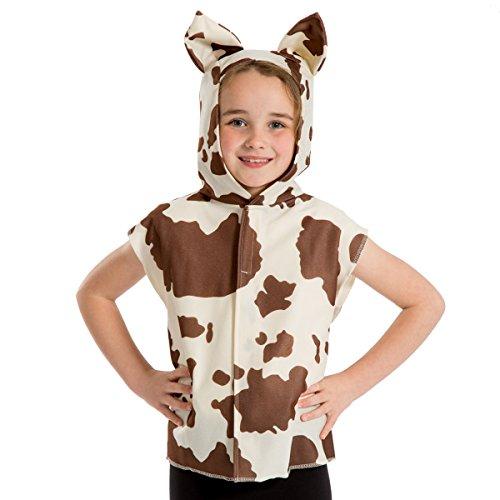 Unbekannt Charlie Crow Kuh / Kalb kostüm für Kinder - Braun und weiß - Einheitsgröße 3-8 Jahre.
