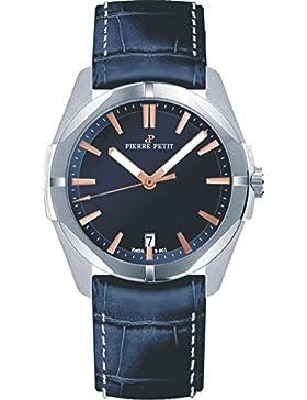 Pierre Petit Unisex-Armbanduhr MONTE CARLO Analog Quarz Leder P-901C