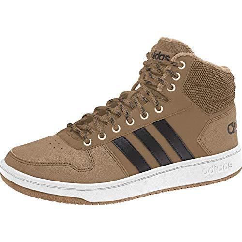 adidas Hoops 2.0 Mid, Herren Basketballschuhe, Braun (Cardboard/Cblack/Ftwwht), 38 2/3 EU (5.5 UK)