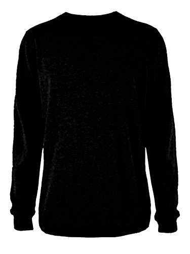 Ladies Plain Classic Sweatshirts Sizes 6 to 30 - CASUAL SPORTS LEISURE WORK (10 to 12 - S / SMALL, BLACK)