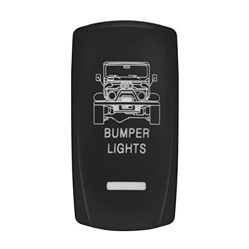 Light Bar-schalter (Eyourlife Auto KFZ Boot Schalter Wippschalter Ein/Ausschalter LED Beleuchtet Wechsel Switch Kippenschalter für Nebelscheinwerfer Scheinwerfer -Weißlicht (Bumper Light Bar))
