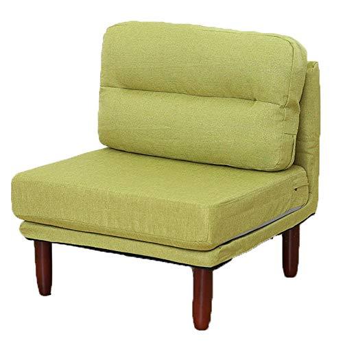 JenLn Lazy Sofa Abnehmbares Kissen Klappstuhl Sessel Vintage Sitz Accent Chair Sofa Recliner Geeignet für alle in der Familie (Farbe : Grün, Größe : 70 * 70 * 69cm) -