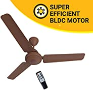 Atomberg Efficio 1200 mm BLDC Motor with Remote 3 Blade Ceiling Fan  (Matt Brown, Pack of 1)