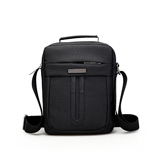 Outreo Borse Uomo Borsa Tracolla Sport Borsello Viaggio Borse a Spalla Vintage Sacchetto Tablet Borsetta Messenger Bag Nero