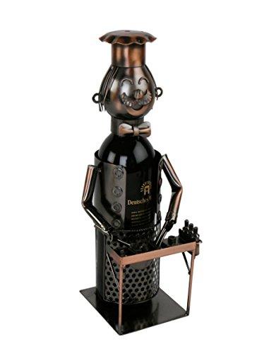 Barbecue Flaschenhalter Metall Kupferfarbe Weinflaschenhalter Sekthalter Grill