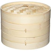Kitchencraft Oriental Vaporera con Pisos, Bambú, Beige, 20x18x18 cm