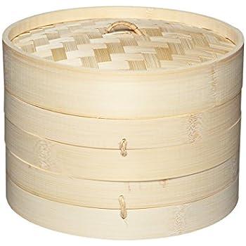 Bambusdämpfer 3-Teilig 25 cm Bamboo Steamer Set: Amazon.de