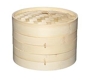 Kitchen Craft, Pure Oriental, Contenitore per cottura a vapore orientale in bambù, 2 livelli e coperchio