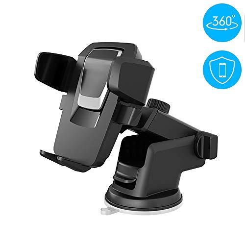 HYGLPXD Handyhalterung Auto KFZ Smartphone Halterung Armaturenbrett/Windschutzscheibe Handy Halter für Auto,2 in 1 Handyhalter fürs Auto für alle Handys bis zu 6.2 Zoll,Wie iPhone,Galaxy