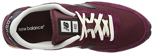 New Balance U410, Baskets basses mixte adulte Rouge - Red (Vintage Dark Red/Black)