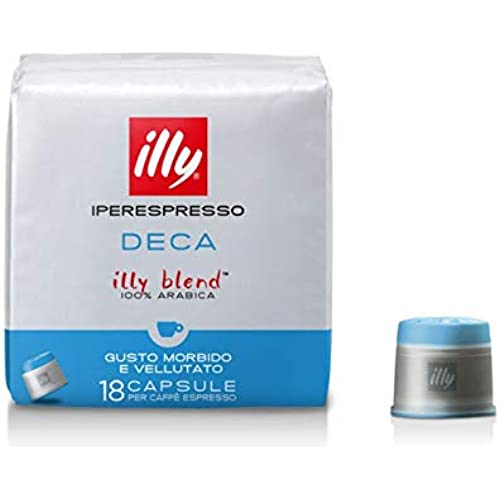 illy Capsule Caffè Iperespresso Decaffeinato, 6 Confezioni da 18 Capsule, Totale 108 Capsule