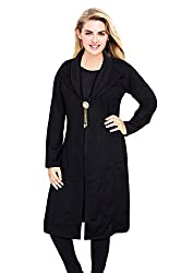 Miss Maria Women's Woollen Shrugh Kurta (Black X-Large)
