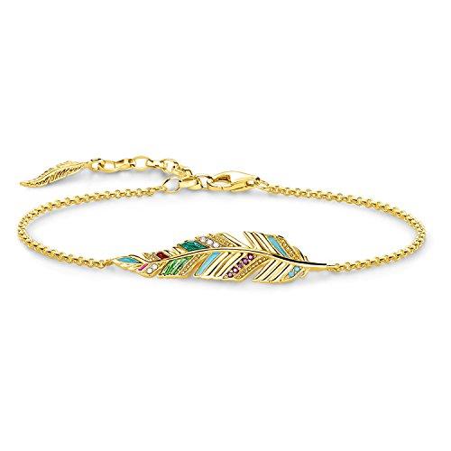 "Thomas Sabo Armband Glam & Soul ""Feder"" 925er Sterlingsilber, 750er Gelbgold Vergoldung"