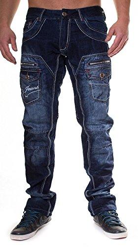 Kosmo Lupo Herren Jeans Hose 245 in versch. Farben W29 - W38 Dunkelblau
