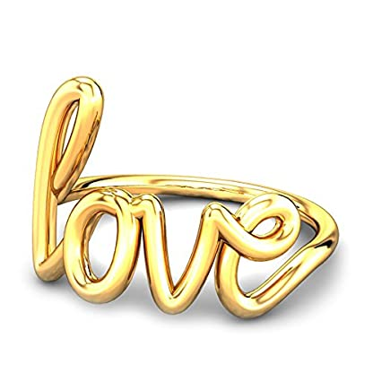 Candere By Kalyan Jewellers 22k (916) Yellow Gold Wired In Love Ring