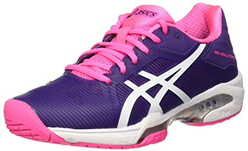 ASICS Gel-Solution Speed 3, Scarpe da Ginnastica Donna, Viola (Parachute Purple/White/Hot Pink), 35 1/2 EU