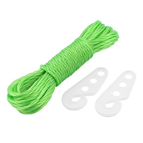 sourcingmap® Corde en Nylon blanchisserie Sèche Serviettes Line Chaîne corde 33ft 10M long avec crochets