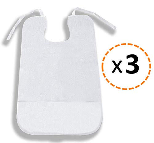OrtoPrime Pack 3 Babero Adulto Impermeable   3 Unidades