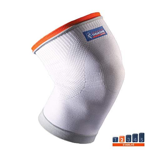 Kniebandage von Thuasne Sport - Weiß/Orange - Größe S