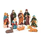 SHATCHI Holy - Juego de 10 figuras movibles para decoración de cuna de Navidad, diseño de nacimiento de Jesucristo