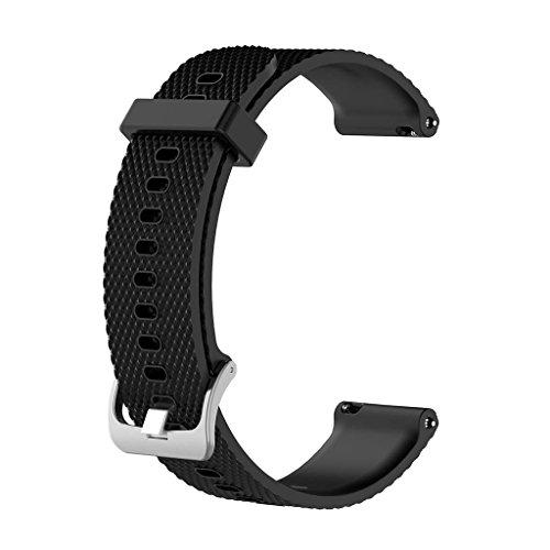 Xuniu Silikon Ersatz Armband Handgelenk Band Strap für Suunto 3 Fitness Watch S - schwarz
