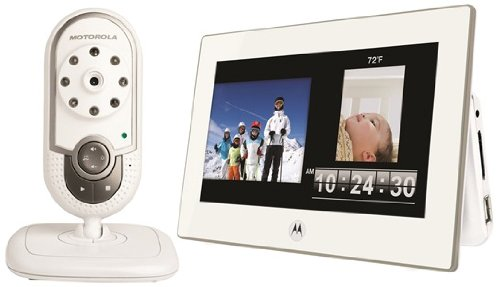 Motorola Babyphone MFV700, incl. Display, bianco - Digital DECT Baby Monitor