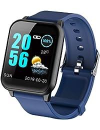 ECG Monitor de frecuencia cardíaca, Monitor de presión Arterial, Reloj Inteligente para Android iOS, podómetro,…
