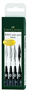 Faber-Castell Pitt Artist Pen Wallet Black (4 Sizes)