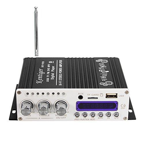 GOZAR Kentiger Hy-V10 Mini Bluetooth Hi-Fi Amplificador Estéreo Bass Booster Mp4 12V...