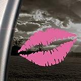 Femme Bouche lèvres sexy Rose Autocollant de voiture Truck fenêtre Rose Autocollant