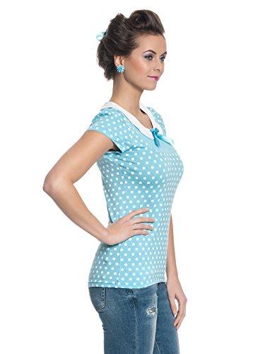 Pussy Deluxe Candy Love Collar Shirt Girl-Shirt Hellblau Blau