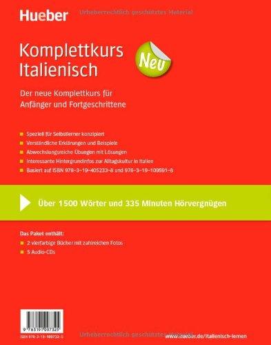 Komplettkurs Neu: Komplettkurs Italienisch Neu: Paket: 2 Übungsbücher + 5 Audio-CDs