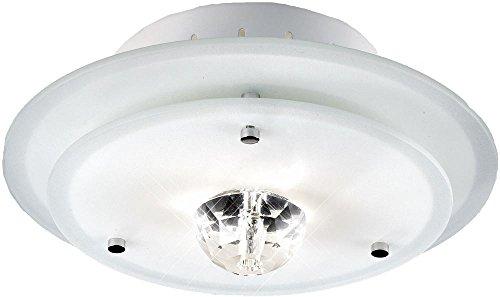 Deckenleuchte Deckenlampe Glas Metall rund Beleuchtung Lampe Licht Esto Diamantis 40115 -