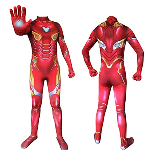 HYYSH Iron Man Heroes Expedition Cosplay Kostüm Avengers Adult Boy Toys Polyester Bekleidung (Size : 150)
